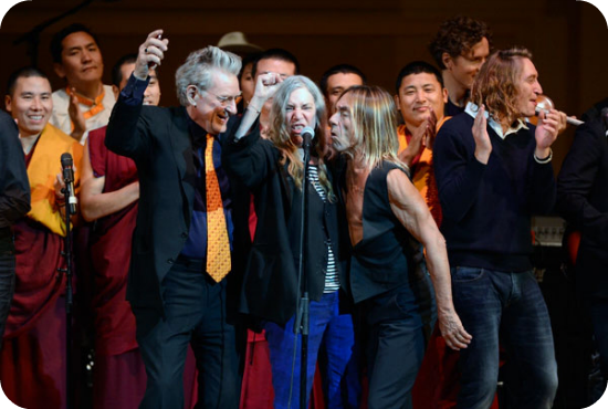 Tibet house benefit iggy pop patti smith new order