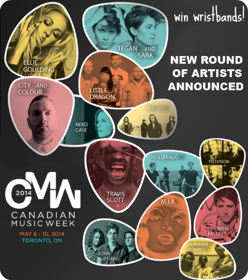 canadian music week 2014 wristband contest